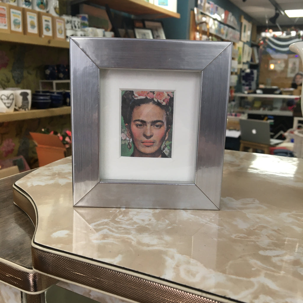 Ali Chura Frida in Small Silver Frame