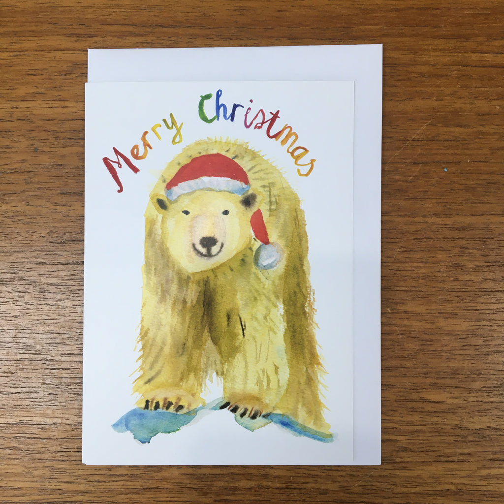 Rosie Webb Merry Christmas Polar Bear Card