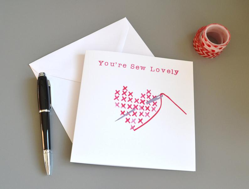 Little Red Apple You're sew lovely Card