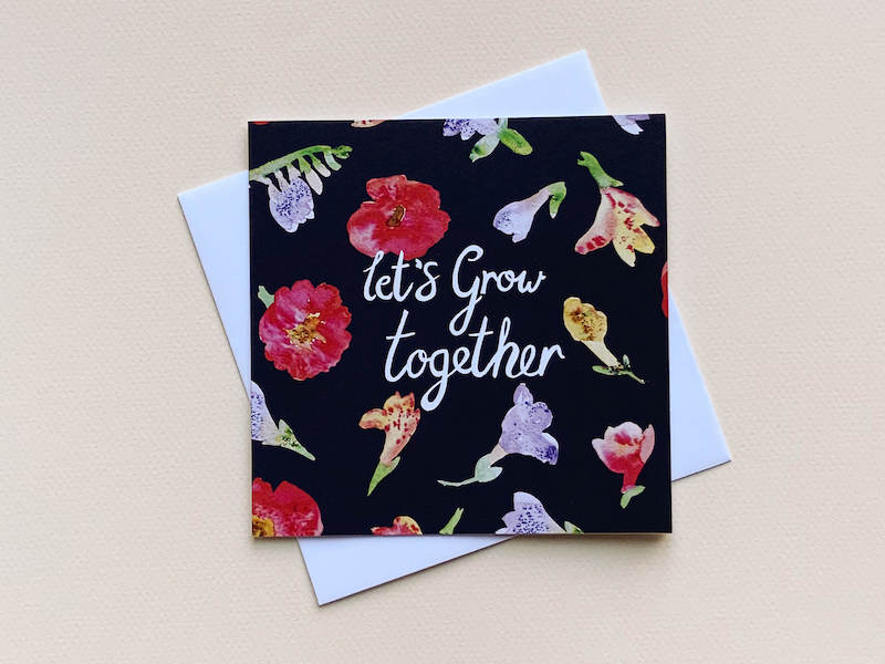Thea & Fox Lets grow together.  A very special card for a special person in your life.