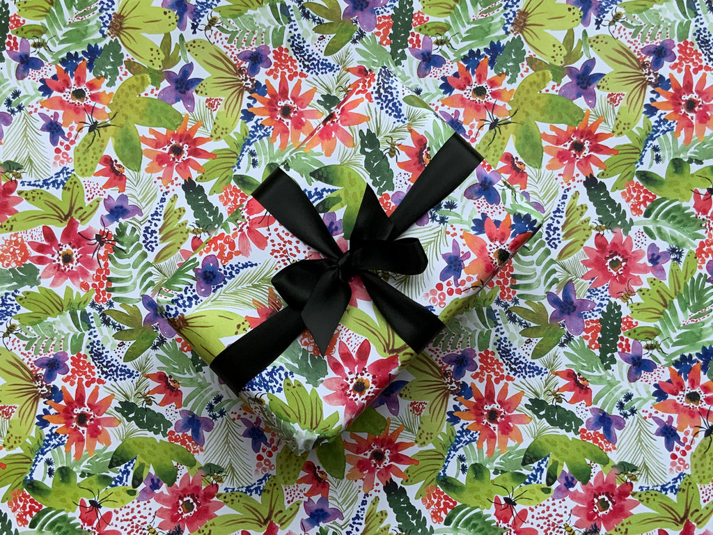 Tropical Floral Wrapping Paper