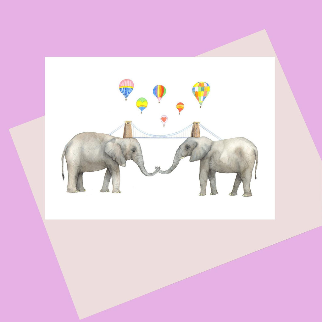 Laura Robertson Elephant Bridge Card