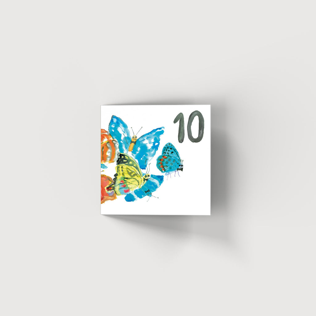 Rosie Webb Ten Butterflies Card
