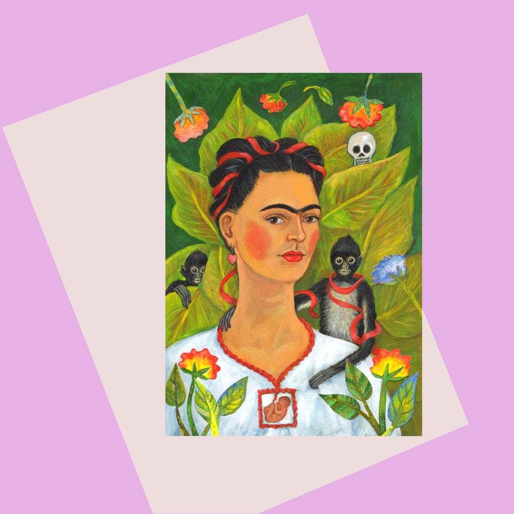 Laura Robertson Frida & Monkey Card