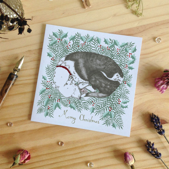 Katharina Illustration Christmas Dog Card