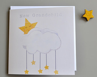 Little Red Apple New grandchild Card