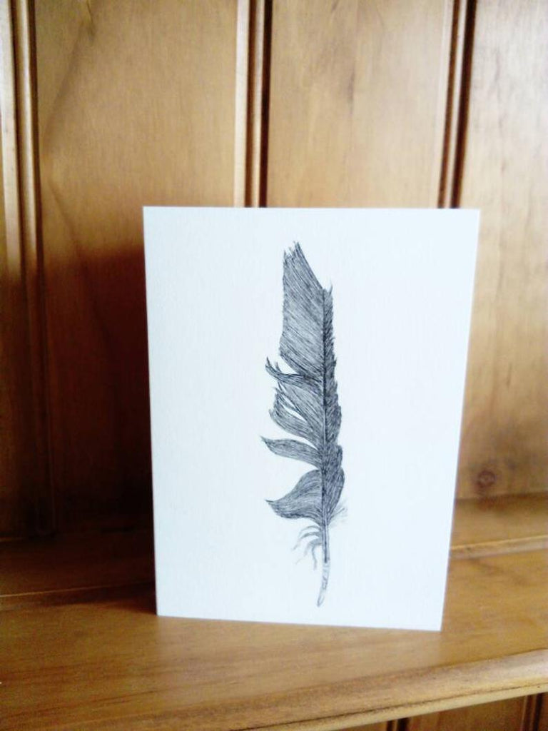 The Corbeau Press Crow Feather Card