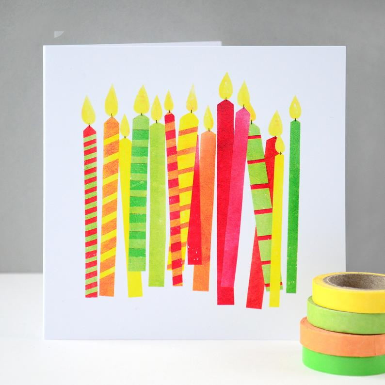 Fiona Clabon Happy Birthday Candles Card