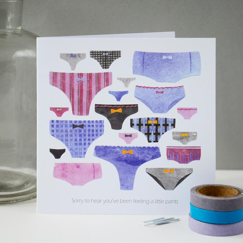 Fiona Clabon Feeling Pants Card