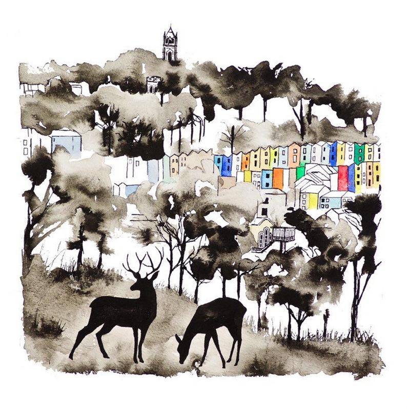 Carla James Deer Bristol Print