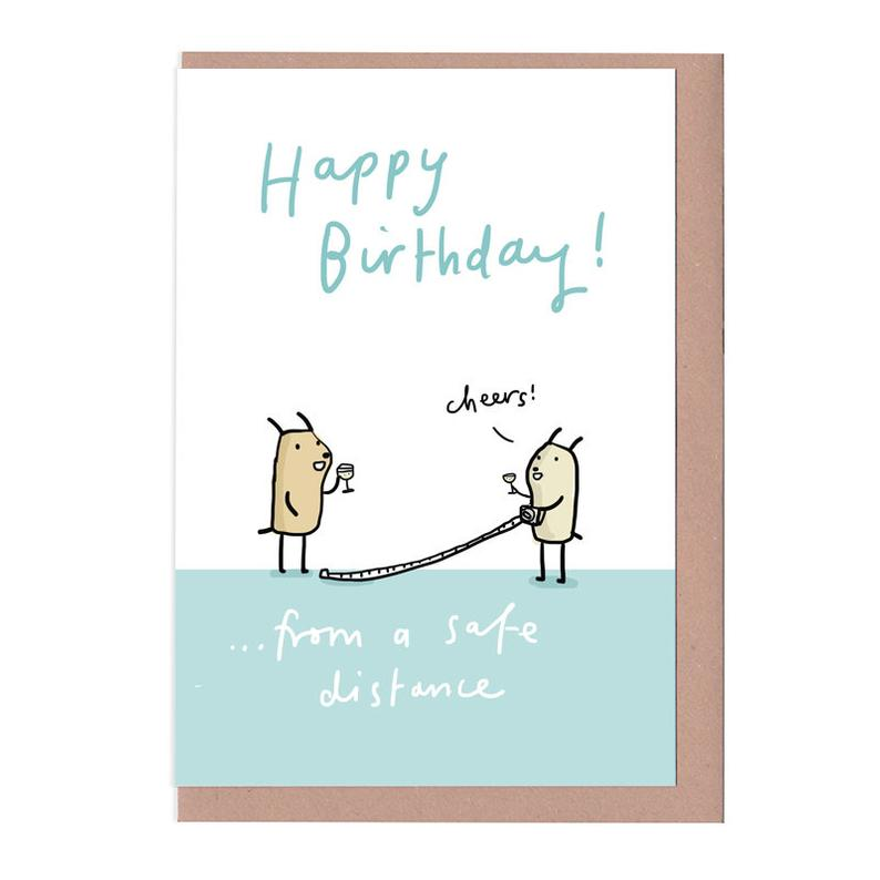 Sarah Ray Happy Birthday From A Safe Distance Card