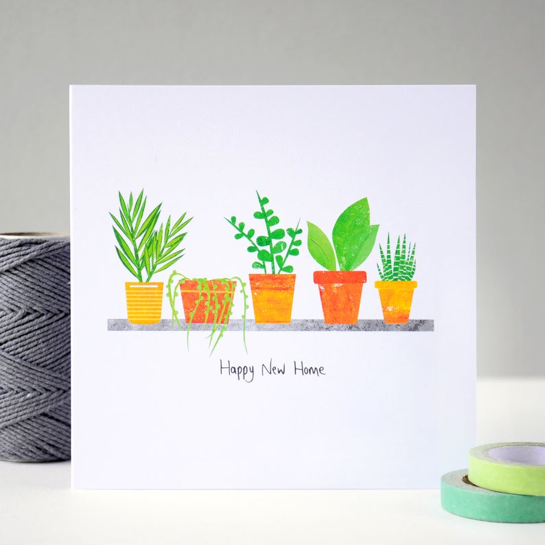 Fiona Clabon New Home Plants Card