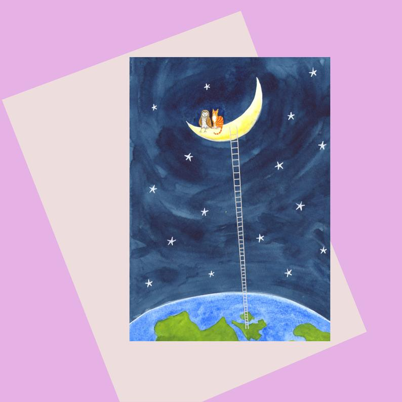 Laura Robertson To The Moon and Back Card