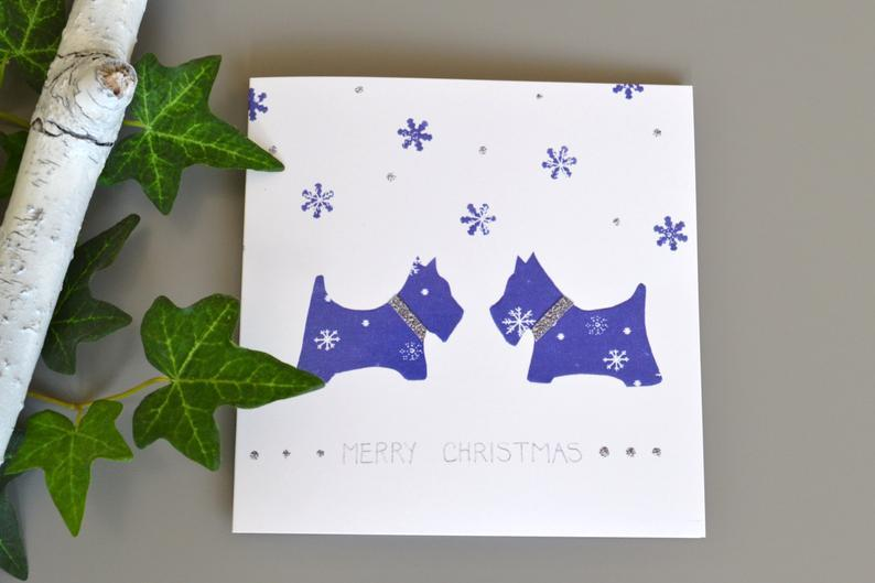 Little Red Apple Blue Dogs Card