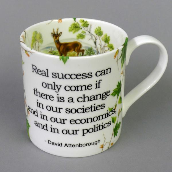 Stokes croft David Attenborough Mug.  Really success can only come if there is change inner societies. Environmental Mug.