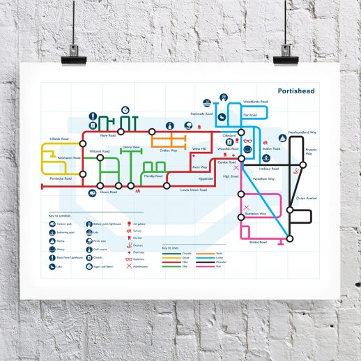 Susan Taylor Portishead Tube Map Poster