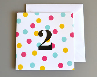 Little Red Apple Pink dotty 2 Card