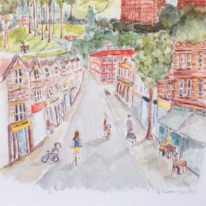 North Street, Bristol, BS3. Limited edition unframed Giclee Print.