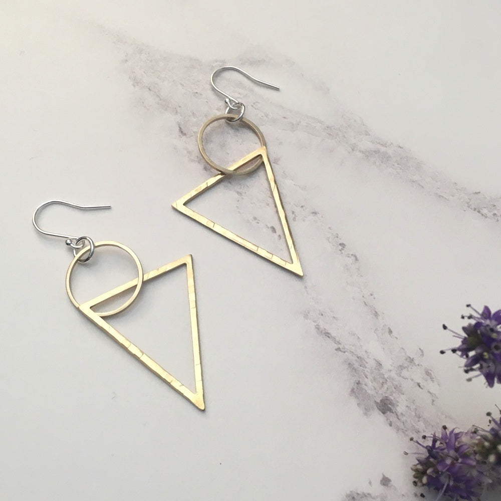 Ava & Bea Circle and Triangle Earrings