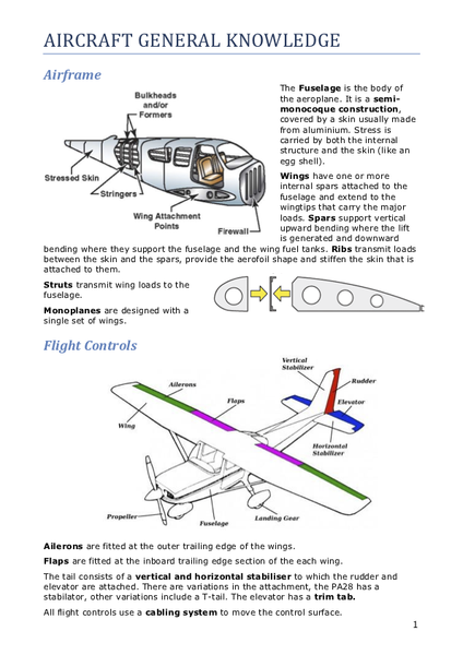 Aircraft General notes 2020