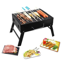 Load image into Gallery viewer, 126 Folding Barbeque Charcoal Grill Oven (Black, Carbon Steel)