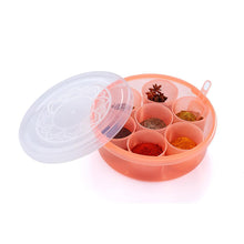 Load image into Gallery viewer, 2026 Maitri Plastic Round Spice Box / Masala Dabba - Spice Jar (7pcs)