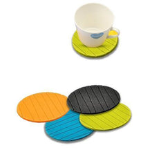 Load image into Gallery viewer, 129 6 pcs Useful Round Shape Plain Silicone Cup Mat Coaster Drinking Tea Coffee Mug Wine Mat for Home
