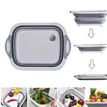 Load image into Gallery viewer, 098 Foldable Chopping Board, Dish Rack, Washing Bowl & Draining Basket, 3in1 Multi-Function