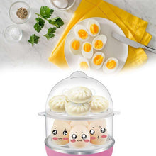 Load image into Gallery viewer, 115 Multi-Function 2 Layer 14 Egg Cooker Boilers & Steamer
