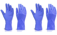 Load image into Gallery viewer, 666 - Flock line Reusable Rubber Hand Gloves (Blue) - 1pc