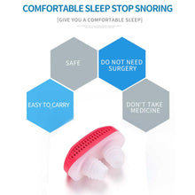 Load image into Gallery viewer, 353 - 2 in 1 Anti Snoring and Air Purifier Nose Clip for Prevent Snoring and Comfortable Sleep