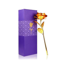 Load image into Gallery viewer, 046+879 Effete Festival Gift Combo - Chocolate Coated Roasted Hazelnut 96gm with Golden Rose 10 INCHES with Carry Bag