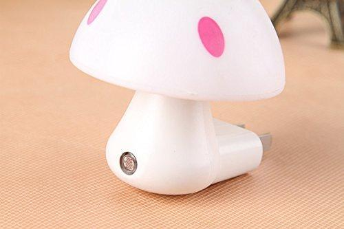 254 Automatic Night Sensor Mushroom Lamp (0.2 watt, Multicolour)