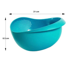 Load image into Gallery viewer, 081A Multi-Function with Integrated Colander Mixing Bowl Washing Rice, Vegetable and Fruits Drainer Bowl-Size: 21x17x8.5cm