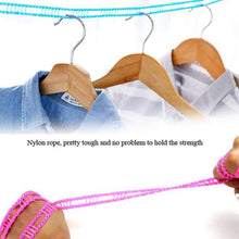 Load image into Gallery viewer, 588 Nylon Clothesline, Windproof Anti-Slip Hanger Stop Rope with 2 Hooks (4 Meters)