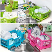 Load image into Gallery viewer, 607 Plastic Sink Dish Drainer Drying Rack