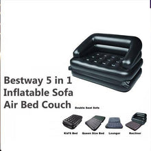 Load image into Gallery viewer, 867 -5 in 1 Inflatable Three Seater Air Sofa Cum Bed with Free Electric Air Pump