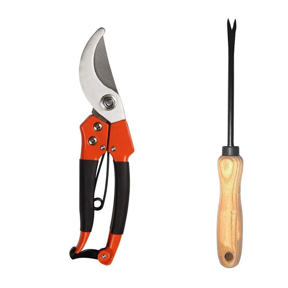 Shoppinglake.com Gardening Combo - Tiger Garden Shears Pruners Scissor & & Hand Weeder Straight