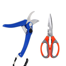 Load image into Gallery viewer, Shoppinglake.com Gardening Combo - Flower Cutter (Hedge Shears) & Household/Garden Scissor
