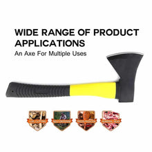 Load image into Gallery viewer, 641 -600g Hatchet Axe Fiberglass Body Rubberized Handle
