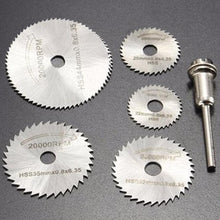 Load image into Gallery viewer, 408 -6pcs Metal HSS Circular Saw Blade Set Cutting Discs for Rotary Tool