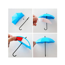 Load image into Gallery viewer, 486_3pcs/set Cute Umbrella Wall Mount Key Holder Wall Hook Hanger Organizer Durable Wall hooks bathroom kitchen Umbrella Wall Hook