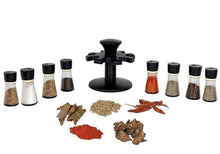 Load image into Gallery viewer, 097 Revolving Plastic Spice Rack Masala Organiser (8 Pcs)