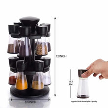 Load image into Gallery viewer, 095 Revolving Plastic Spice Rack Masala Organiser (12 pcs )