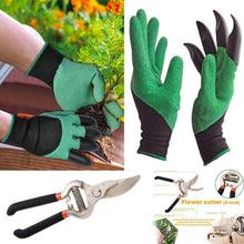 Load image into Gallery viewer, Shoppinglake.com Gardening Tools - Gardening Gloves and Flower Cutter/Scissor/Pruners