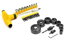 Load image into Gallery viewer, Shoppinglake.com Professional 11 Pieces Hole Saw Cutter Set Cutting Tool with 24 Pieces T Spanner Socket Set