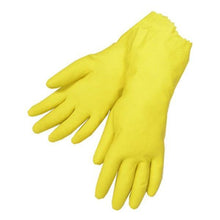 Load image into Gallery viewer, 652 - Cut Glove Reusable Rubber Hand Gloves (Yellow) - 1 pc