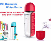 Load image into Gallery viewer, 365 -7 Days Pill Tablet Medicine Organizer with Water Bottle 600ml