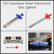 Load image into Gallery viewer, 151 Stainless Steel Electronic Gas Lighter