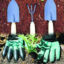 Load image into Gallery viewer, Shoppinglake.com Gardening Hand Cultivator, Big Digging Trowel, Shovel & Garden Gloves with Claws for Digging & Planting
